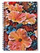 Peanies Flower Blossom Spiral Notebook