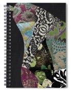 Pear Brocade II Spiral Notebook