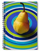 Pear On Plate With Circles Spiral Notebook