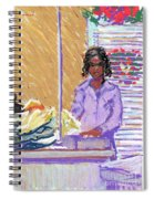 Pearl At The Clothes Press Spiral Notebook