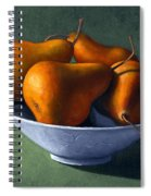 Pears In Blue Bowl Spiral Notebook
