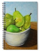 Pears In Bowl 2 Spiral Notebook