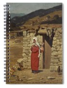 Peasant Carrying Water Spiral Notebook