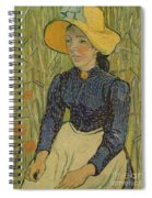 Peasant Girl In Straw Hat Spiral Notebook