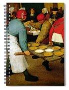 Peasant Wedding Spiral Notebook