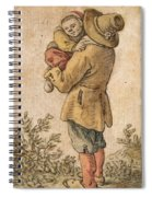 Peasant With Child Spiral Notebook