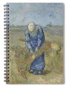 Peasant Woman Binding Sheaves After Millet Saint Remy De Provence  September 1889 Vincent Van Gogh Spiral Notebook