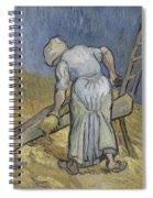 Peasant Woman Bruising Flax After Millet Saint Remy De Provence September 1889 Vincent Van Gogh  Spiral Notebook
