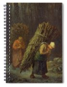 Peasant Women With Brushwood Spiral Notebook