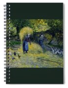 Peasants Carrying Straw Montfoucault 1875 Camille Pissarro Spiral Notebook