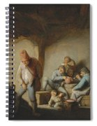 Peasants In The Interior Of An Inn Spiral Notebook