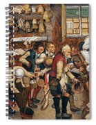 Peasants Paying Tithes By Pieter Bruegel I Spiral Notebook