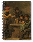 Peasants Playing Dice Spiral Notebook
