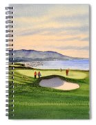 Pebble Beach Golf Course 9th Green Spiral Notebook
