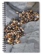 Pebble Beach Rocks 8787 Spiral Notebook