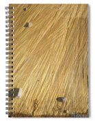 Pebbles And Texture On A Crosscut Log Spiral Notebook