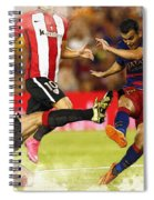 Pedro Rodriguez Kicks The Ball  Spiral Notebook