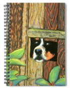 Peek-a-boo Fence Spiral Notebook
