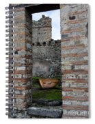 Peek Into The Past - Pompeii Spiral Notebook
