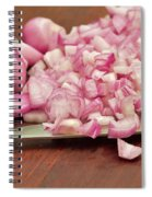 Peeled And Chopped Shallots Spiral Notebook