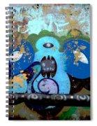 Peeling Graffiti Spiral Notebook
