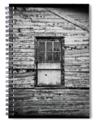 Peeling Wall And Cool Window At Fort Delaware On Film Spiral Notebook