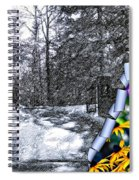 Peeling Winter Away Spiral Notebook