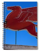 Pegasus Oil Sign Spiral Notebook