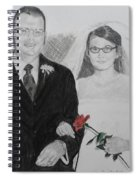 Peggy And John Taylor Wedding Portrait Spiral Notebook