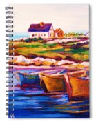 Peggys Cove  Four  Row Boats Spiral Notebook