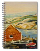 Peggys Cove  Harbor View Spiral Notebook