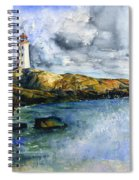 Peggy's Cove Lighthouse Landscape Spiral Notebook