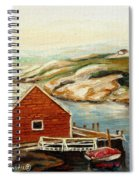Peggys Cove Nova Scotia Landmark Spiral Notebook