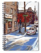 Peintures De Montreal Paintings Petits Formats A Vendre Restaurant Machiavelli Best Original Art   Spiral Notebook