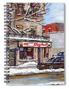 Peintures Petits Formats A Vendre Montreal Original Art For Sale Restaurant Chez Paul The Pointe Psc Spiral Notebook