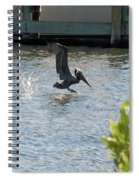 Pelican On The Waves Spiral Notebook
