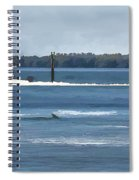 Pelican Porpoise And Fishermen Spiral Notebook