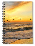 Pelicans At Sunrise  Signed 4651b 2  Spiral Notebook