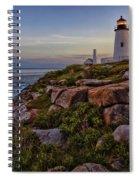 Pemaquid Light At Dusk Spiral Notebook