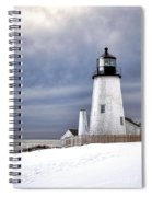 Pemaquid Point Lighthouse In Winter Spiral Notebook