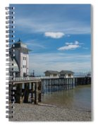 Penarth Pier Glorious Day Spiral Notebook