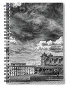Penarth Pier Morning Light 1 Mono Spiral Notebook