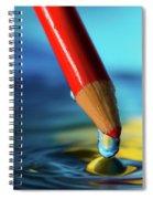 Pencil Drip Spiral Notebook