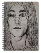 Pencil Portrait Of John Lennon  Spiral Notebook