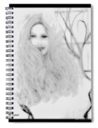 Pencil Sketch Of Blonde Hair Girl Spiral Notebook
