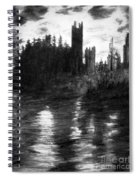 Pencil Sketch The Dolceaoque Castle Spiral Notebook
