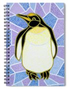 Penguin On Stained Glass Spiral Notebook