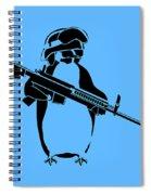 Penguin Soldier Spiral Notebook