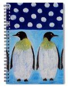 Penguins Talking Spiral Notebook