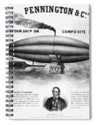 Penningtons Airship, 1850 Spiral Notebook